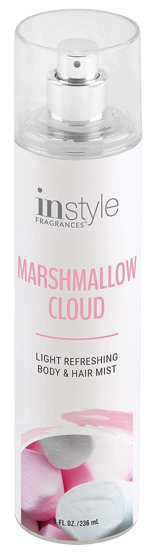Instyle Fragrances   Body & Hair Mist   Marshmallow Cloud Scent   With Panthenol   CLEAN, Vegan, Paraben Free, Phthalate Free   Premium 8 Fl Oz Spray Bottle