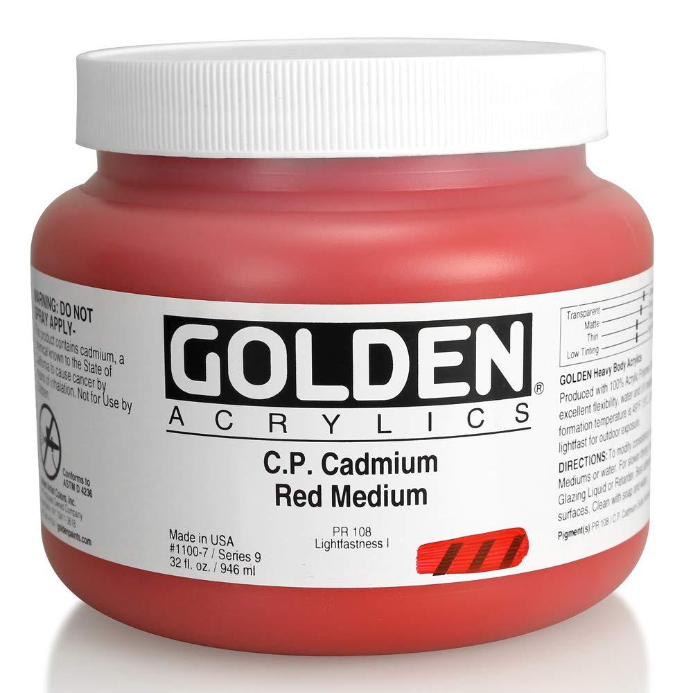 Cadmium Red Medium 32 oz jar golden Artist Colours Acrylic Heavy Body gold 8 oz jar green Phosphorescent