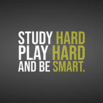 Buy 5 Ace Study Hard Play Hard |Motivational Quotes|Inspirational Quotes|Gym  Poster| Wall Sticker Paper Poster(Size:12x18 inch), Multicolor Online at  Low Prices in India - Amazon.in
