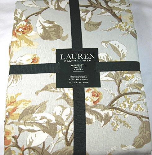 Ralph Lauren Arial Floral Tablecloth Grey 60 x 120 100% Cott