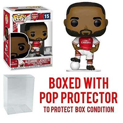 POP! Sports EPL Soccer Arsenal, Alexandre Lacazette #15 Action Figure (Bundled with Pop Box Protector to Protect Display Box): Toys & Games