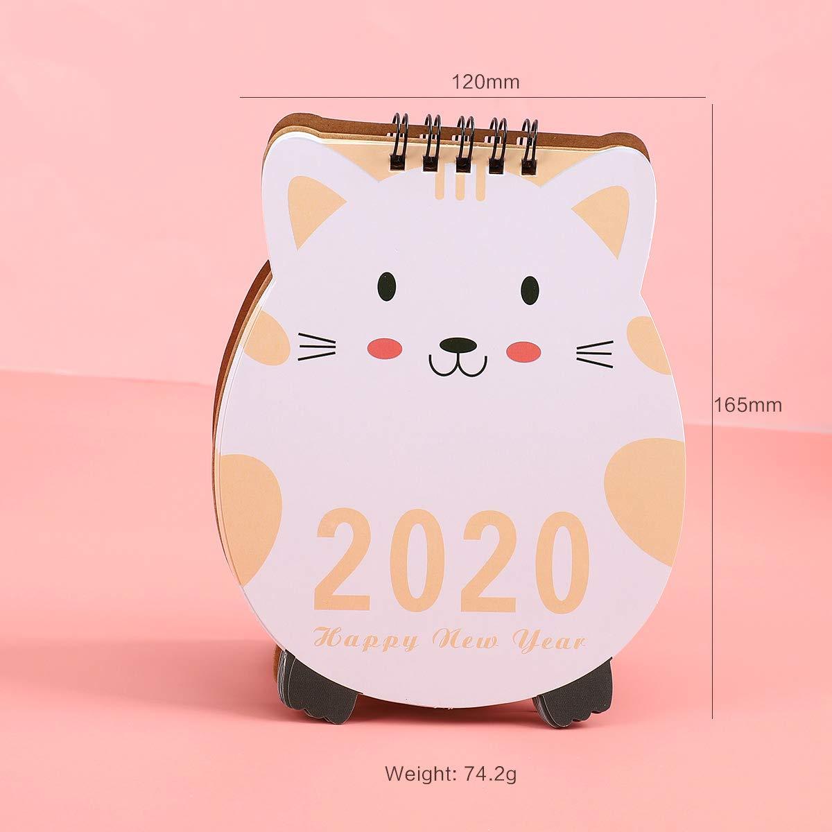 Calendario de mesa con diseño de unicornio y cerdito 2019 ...