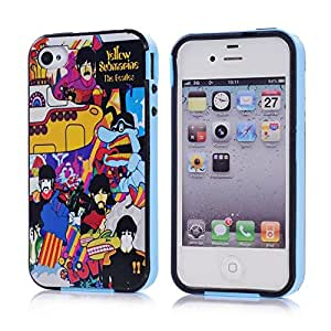 iPhone 4 Cases, iPhone 4 case, iPhone 4S.case, iphone.4 cases, iPhone 4 Cases, iPhone 4.case, iPhone 4S.case, iphone.4 casess, Gotida Colorful TPU Bumper and Colorful Hard Back Printing case for iphone 4 4S 4G- Color17