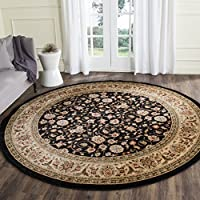 Safavieh Lyndhurst Collection LNH316B Traditional Oriental Black and Ivory Round Area Rug (5'3' Diameter)