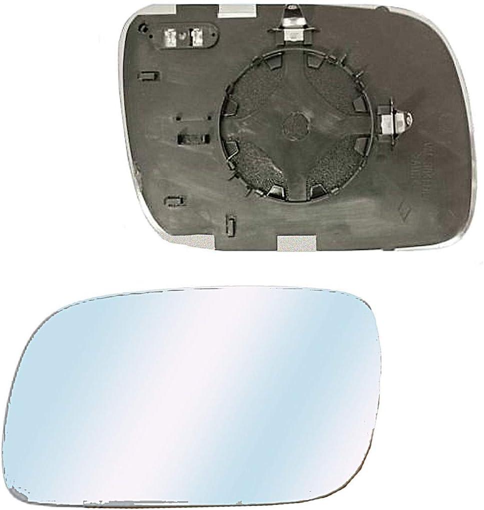 Vetro Specchio Retrovisore termico e Asferico lato sinistro per TOUAREG dal 2002 a 2006