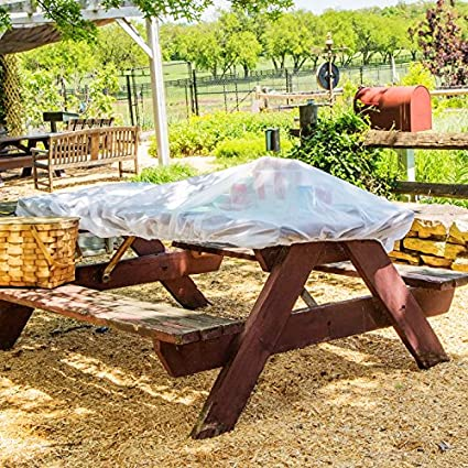 Amazoncom Muzitao Food Covers With Elastic Edging Pack - Outdoor picnic table covers