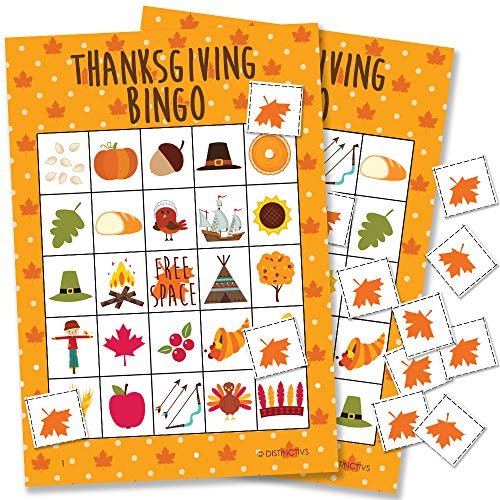 Thanksgiving Bingo Game - 24 Players