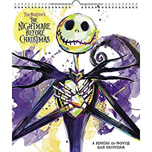Amazon.com : 2018 Nightmare Before Christmas Wall Calendar ...