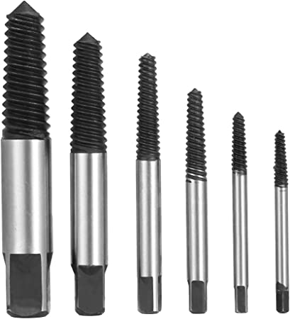 6pcs Damaged Screw Extractor Remove Set Easy Out Bolt Screw Extractor Drill Bits