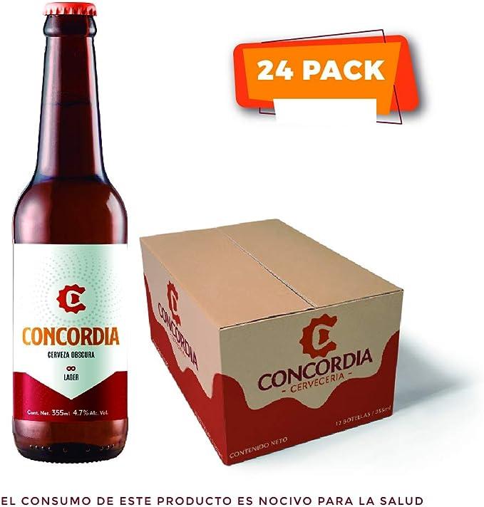 24 pack Cerveza Concordia Lager Obscura