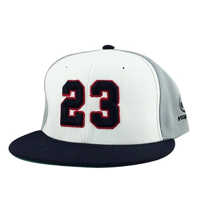4b06b8450482f7 Number  23 White Red Black Visor Hip Hop Retro Snapback Hat Cap x Air Jordan   Amazon.in  Clothing   Accessories