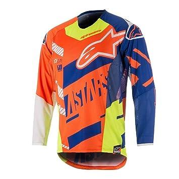 Alpinestars Orange-Blue-White 2018 Techstar Screamer MX Jersey ... 530debd1c
