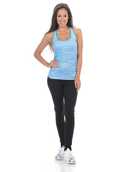 93492e3dfb026 Amazon.com: Diamante Women's Power Flex Yoga Pant Legging Sportswear · Style  B74: Clothing