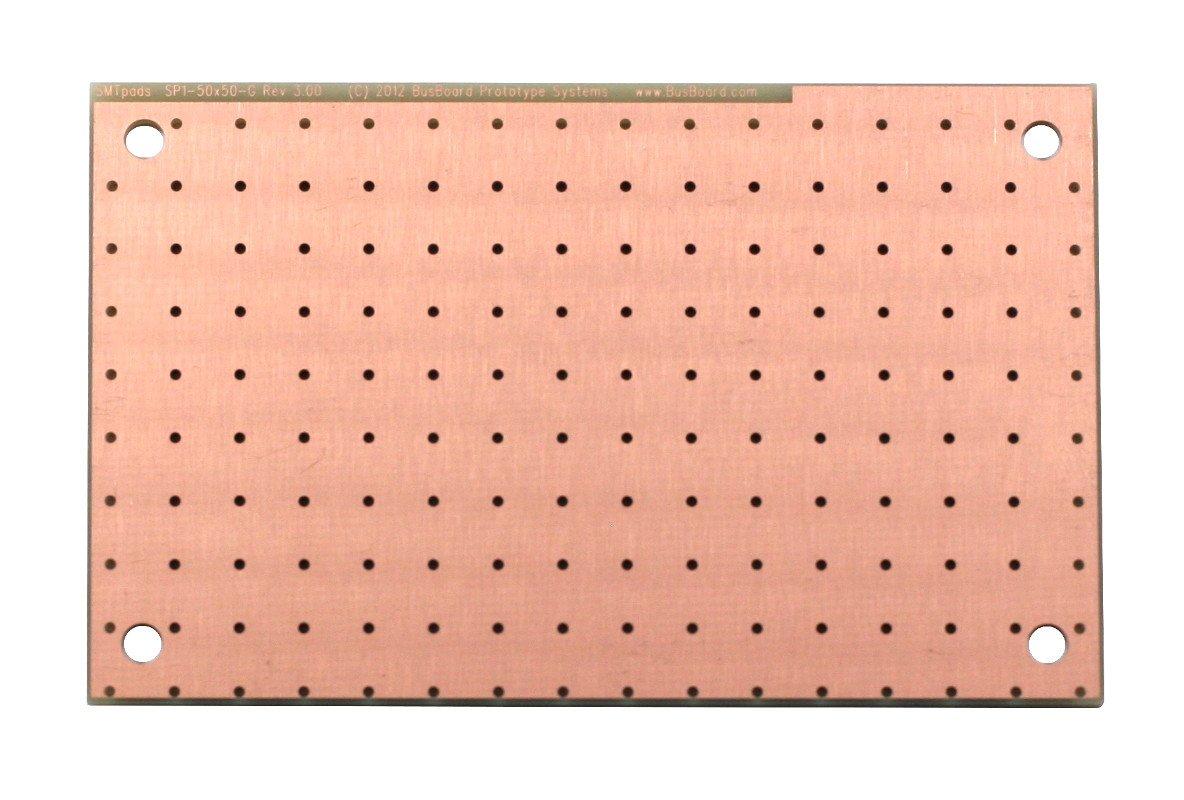 Busboard Prototype PCB Prototyping Boards SP3T-50X50-G-PTH 1 Piece