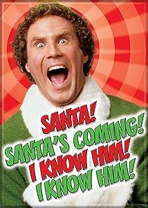 "Ata-Boy Elf Movie 'I Know Him!' 2.5"" x 3.5"" Magnet for Refrigerators and Lockers"