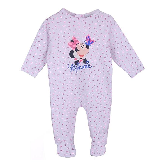 Disney Niñas, Infantil, Bebé Minnie Mouse Mameluco, Pijama, Bebé, Blanco,