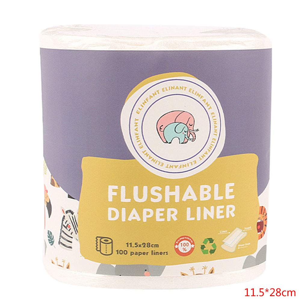 Diaper Liner,100pcs//roll Baby Disposable Diapers Flushable Nappy Liners Cloth Diaper