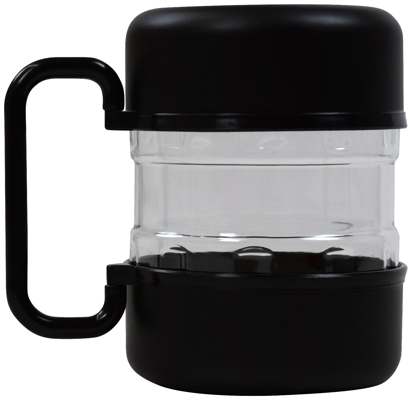 The JDP Co. Travel Dog Food Container with Detachable Travel Dog Bowls (Black)