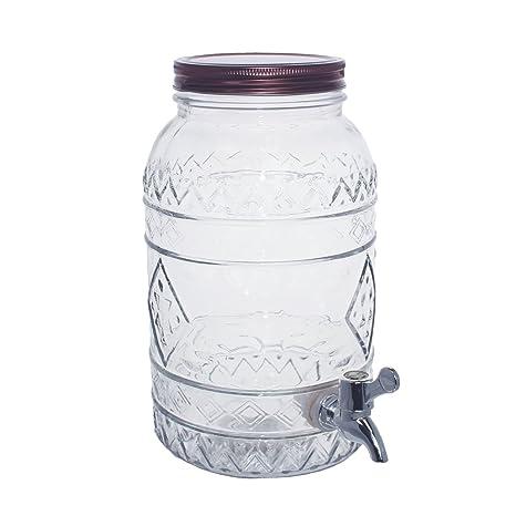 TJB Basics enorme 3,5 galones dispensador de bebidas bebida, espiga y tapa de
