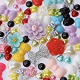 Roseys Craft Shops 100 x Mini Deluxe Flatback Mix, Cardmaking,Cabochon, Embellishments by Roseys Craft Shop