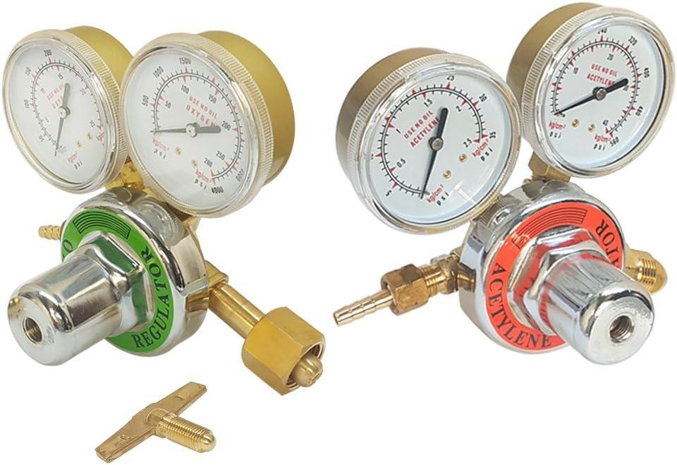 Acetylene Oxygen Gas Welding Regulator Pressure Gauge Fit Victor Solid Brass set
