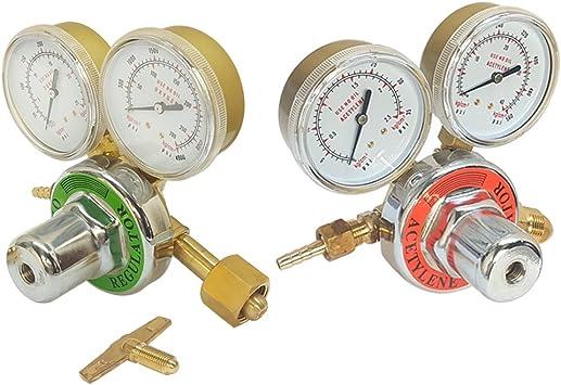 Solid Brass OXYGEN /& ACETYLENE Regulators 4Welding Fit Victor Gas Torch Cutting
