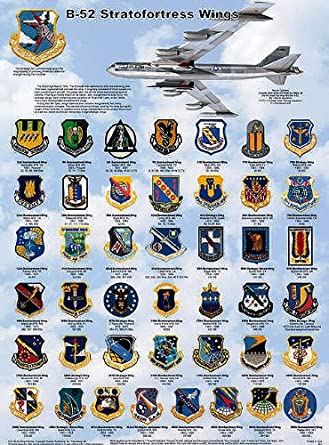 B-47 3-View Laminated Educational Science Airplane Class Chart Poster 18x24