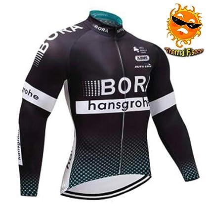 ADKE Maillot Ciclismo Hombre Invierno, Térmico Ropa ...