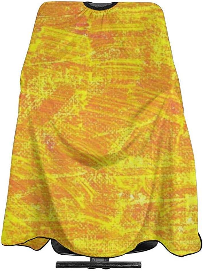Capa De Peluquería Manchas Amarillas Líneas Mancha Colorido ...