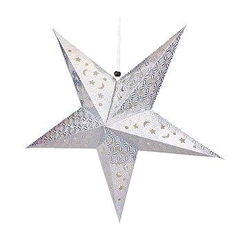 Dairyshop pentagram lampshade paper star lantern hanging star dairyshop pentagram lampshade paper star lantern hanging star colourful for christmas decoration 30cm45cm aloadofball Images