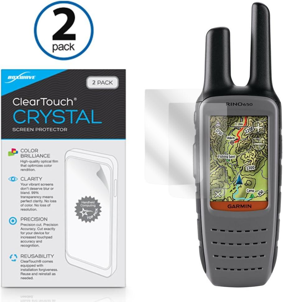 Garmin Rino 650 Protector de pantalla, BoxWave® [ClearTouch Crystal (2-Pack)] HD película piel – Protege de arañazos para Garmin Rino 650: Amazon.es: Electrónica