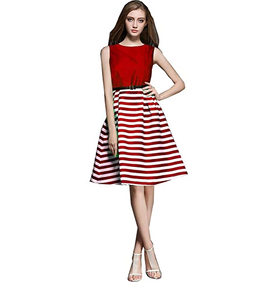 19615e3bad84 Royal Export Women s A-Line Knee-Long Dress (D88 RED XS Red X-Small)  Amazon .in  Clothing   Accessories