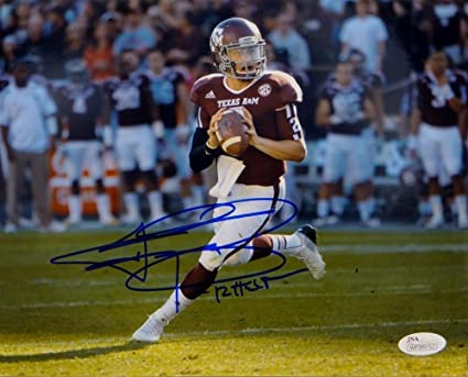 ed0805e7cff Image Unavailable. Image not available for. Color  Johnny Manziel Signed  Autograph Texas A M ...