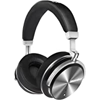 Bluedio T4S Active Noise Cancelling Bluetooth Headphones Over Ear with Mic, 57mm Driver Swiveling Wireless Headset, Wired and Wireless Headphones for Cell Phone/TV/PC (Preto)