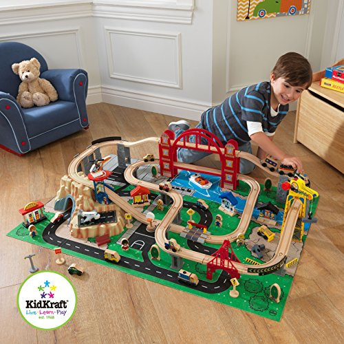 Kidkraft Metropolis Train Set with Roll-Up Felt Play Mat General General