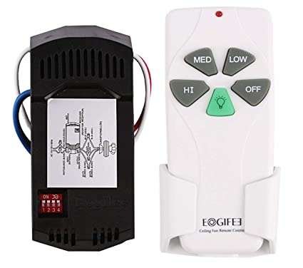 Eogifee Universal Ceiling Fan Remote Control And Receiver Kit Replacement Of Hampton Bay Harbor Breeze Hunter