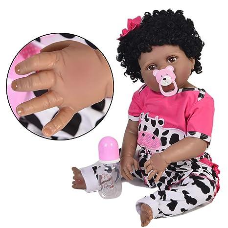 ZZSQ Precioso 23inch Reborn muñeca Indian Style Tono de Piel ...