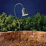 Kichler 15349MST Tulip Path & Spread 1-Light 12V, Textured Midnight Spruce