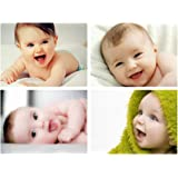 MANIAL Cute HD Smiling Baby Poster Combo for Pregnant Women Room Decor (12x18-Inches, 300GSM Thick Paper, Gloss Laminated, Multicolour) -Set of 4