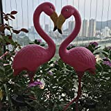 Hi9 Pink Flamingo Solar Light Yard Art Plastic Metals Garden Ornaments (2)
