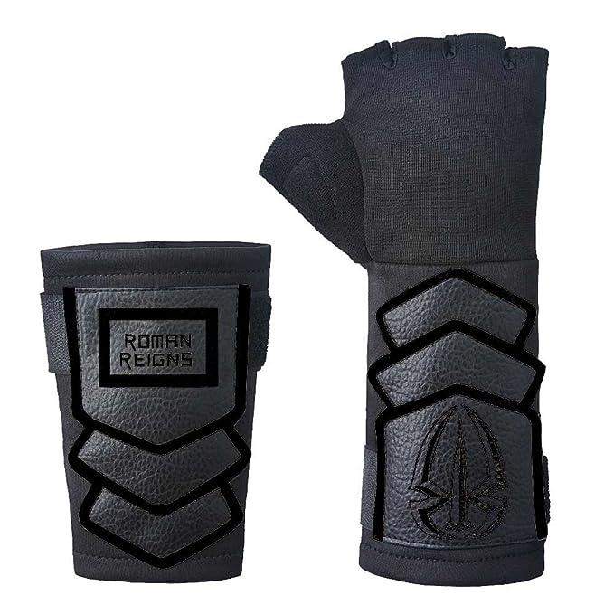 be3d177db2e22 Amazon.com  Roman Reigns WWE Authentic Superman Punch Glove Set Onyx Black   Clothing