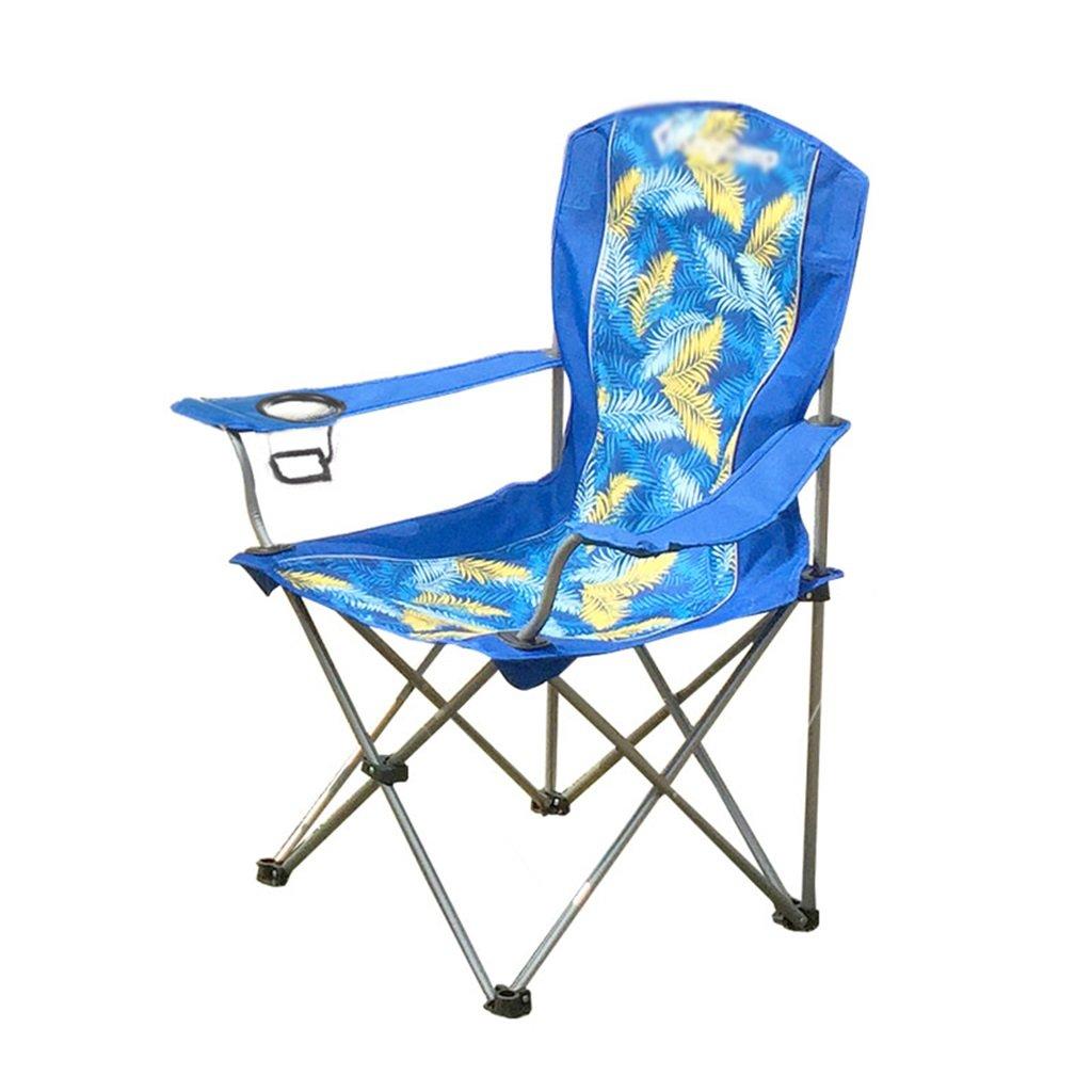 ZGL 旅行椅子 屋外折りたたみチェアポータブルビーチカジュアルチェア折りたたみ釣り用スツール背もたれ椅子屋外椅子の色オプション ( 色 : Blue-1 ) B07C77C4BC Blue-1 Blue-1