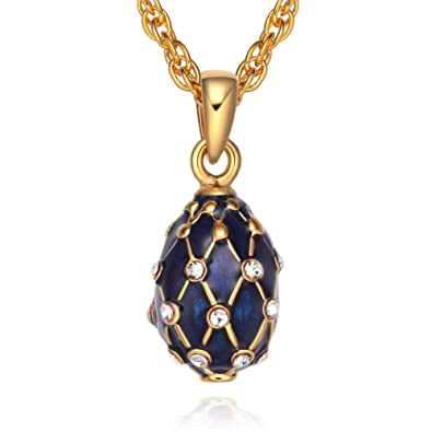 Amazon tf charms mini size russian royal faberge egg pendant tf charms mini size russian royal faberge egg pendant necklace 18quot with 18k gold color aloadofball Choice Image