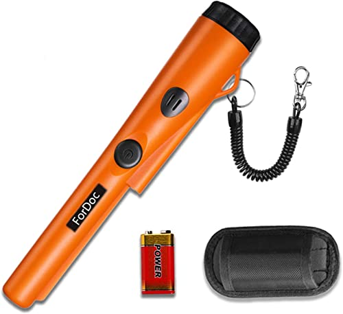 ForDoc pinpointer-2019 Design Metal detectors for Adults Kids with Belt Holster, Fully Waterproof Pinpointer-Orange