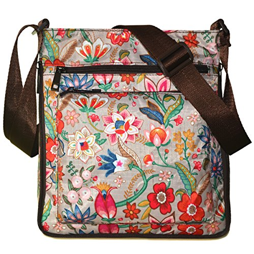 STUOYE Mutil-Pocket Nylon Crossbody Purse Bag with Adjustable Zipper (Daffodil) (Crossbody Bag Pattern)