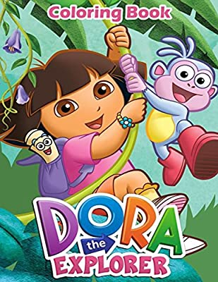 Amazon.com: Dora the Explorer: Coloring Book for Kids and Adults ...