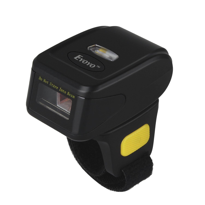 Elikliv Eyoyo Mini Scanner sans Fil Handheld MJ-R30 sur Anneau de Doigt Barcode Lecteur de Code à Barre Android iOS Windows OEM