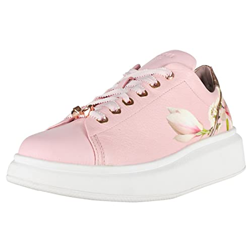 2f4799ae7ac728 Ted Baker Ailbe Leather Lace Up Trainer Blossom Harmony-Blossom-8 ...