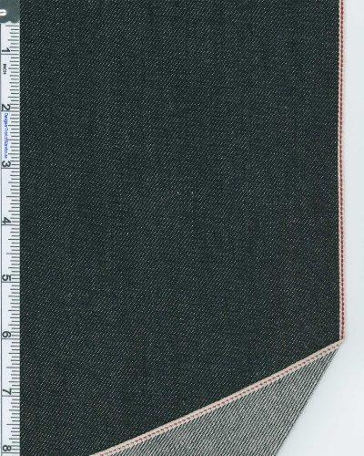 Selvedge Japanese Slub Denim Fabric By The Yard, 10.8-Oz, Black 1345