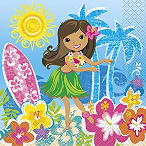 Hula Girl Luau Party Napkins, 16ct